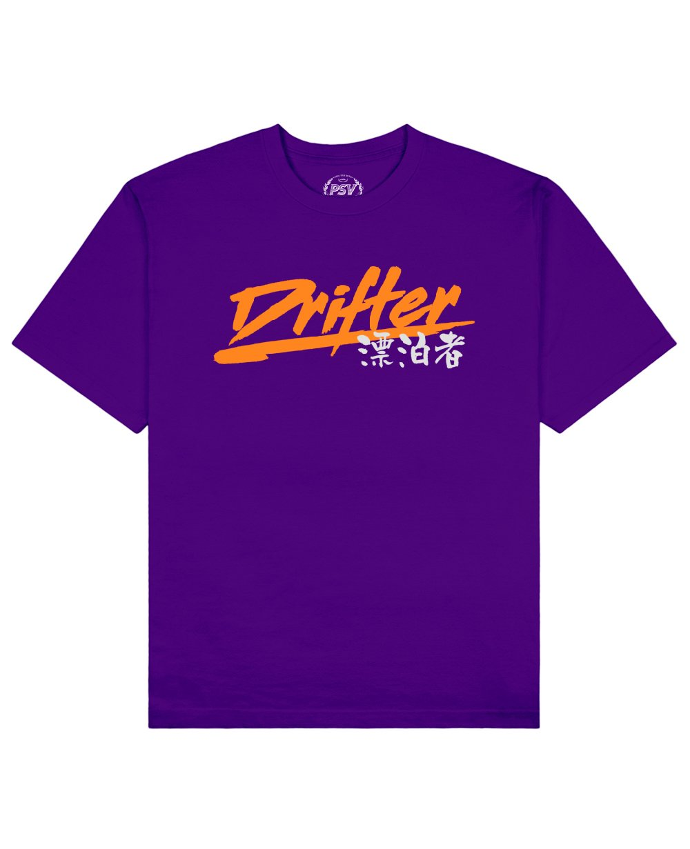 Drifter Print T-Shirt in Purple - T-Shirts - PSV - BRANMA