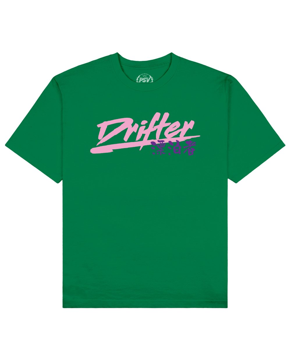 Drifter Print T-Shirt in Green - T-Shirts - PSV - BRANMA