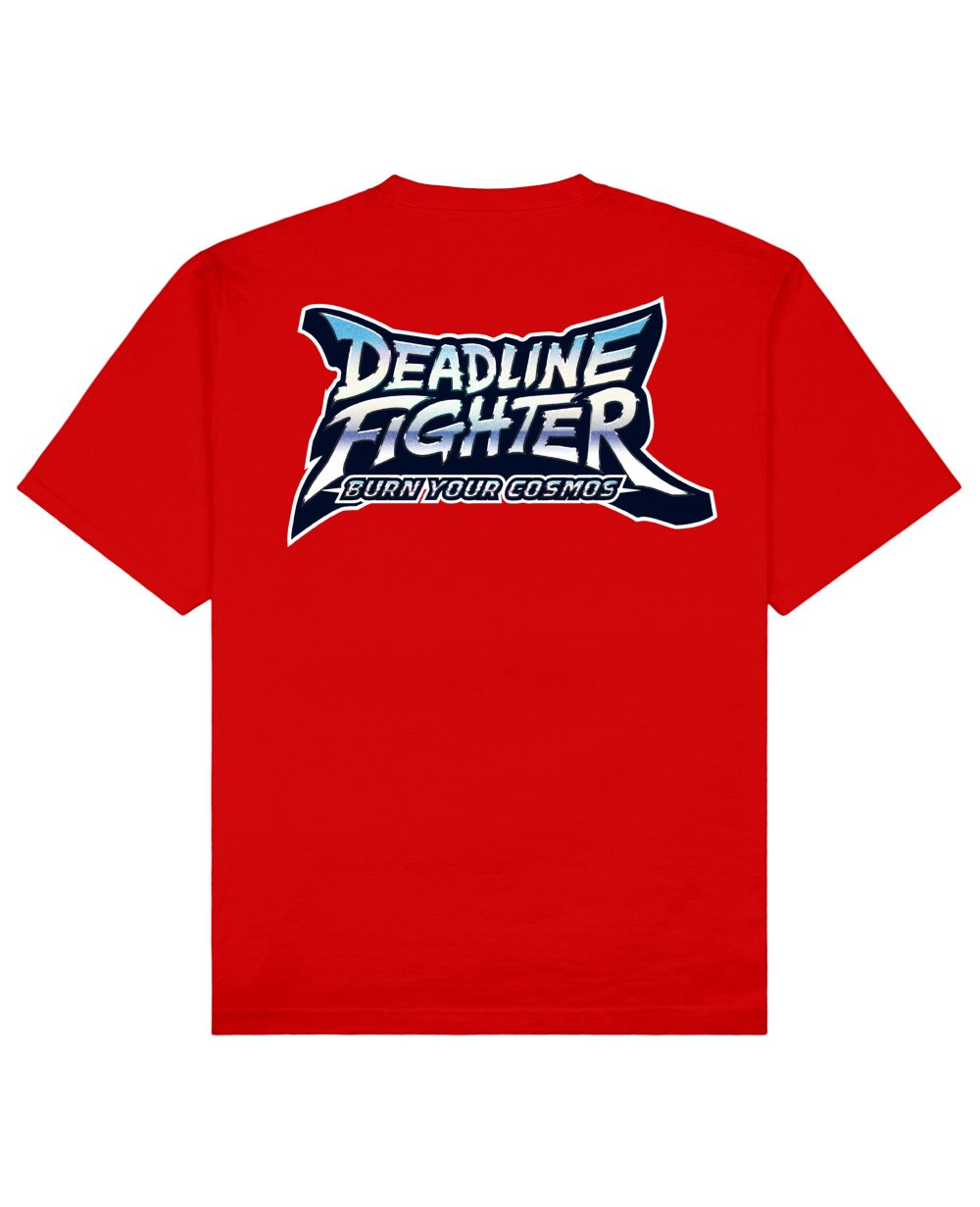 Deadline Fighter Print T-Shirt in Red - T-Shirts - PSV - BRANMA