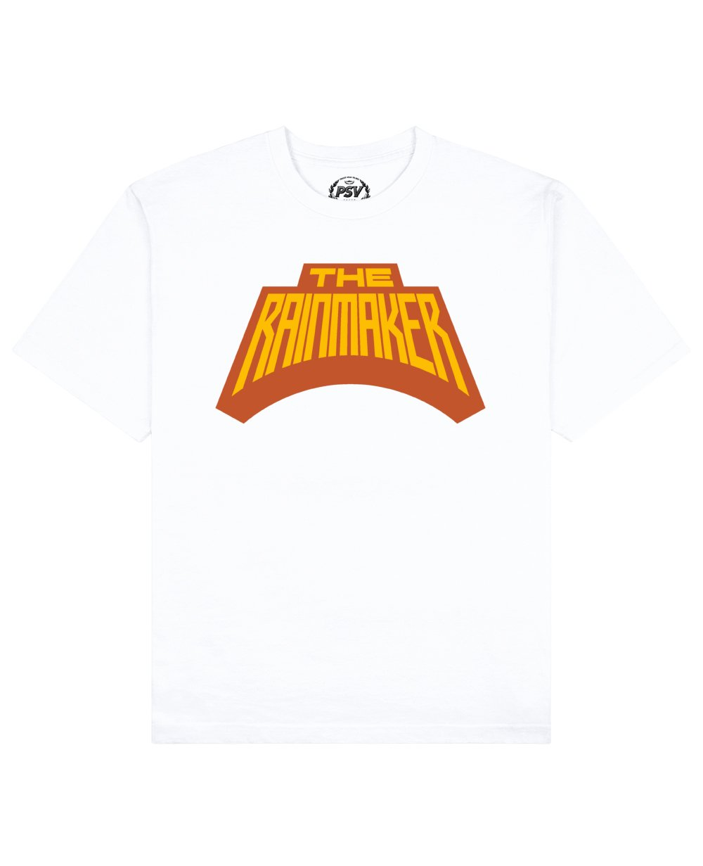 The Rainmaker Print T-Shirt in White - T-Shirts - PSV - BRANMA