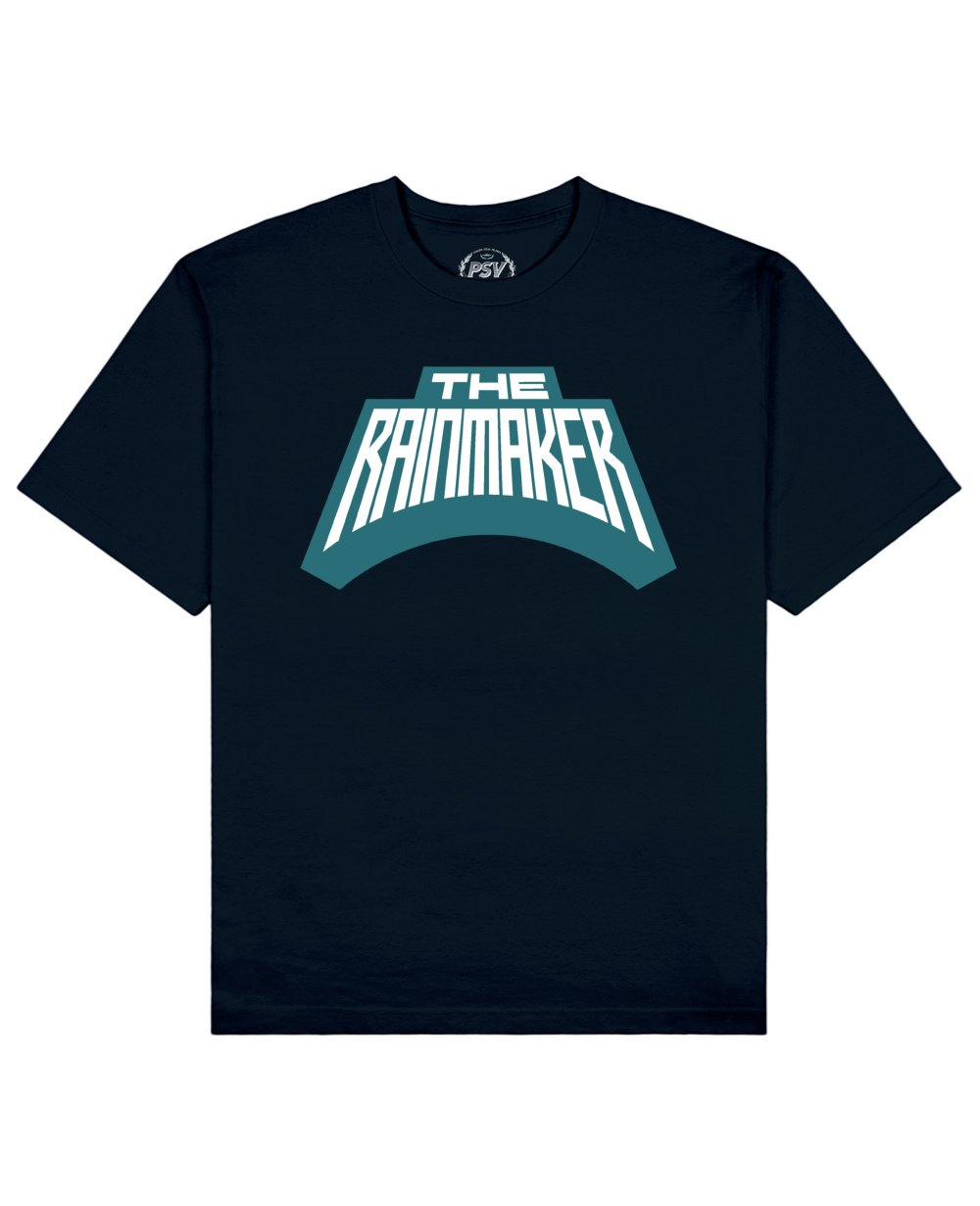 The Rainmaker Print T-Shirt in Navy - T-Shirts - PSV - BRANMA