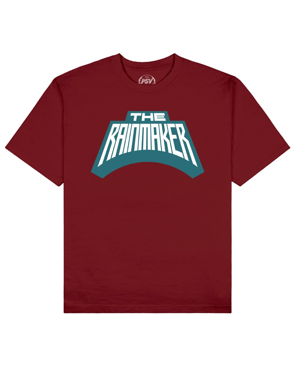 The Rainmaker Print T-Shirt in Red - T-Shirts - PSV - BRANMA