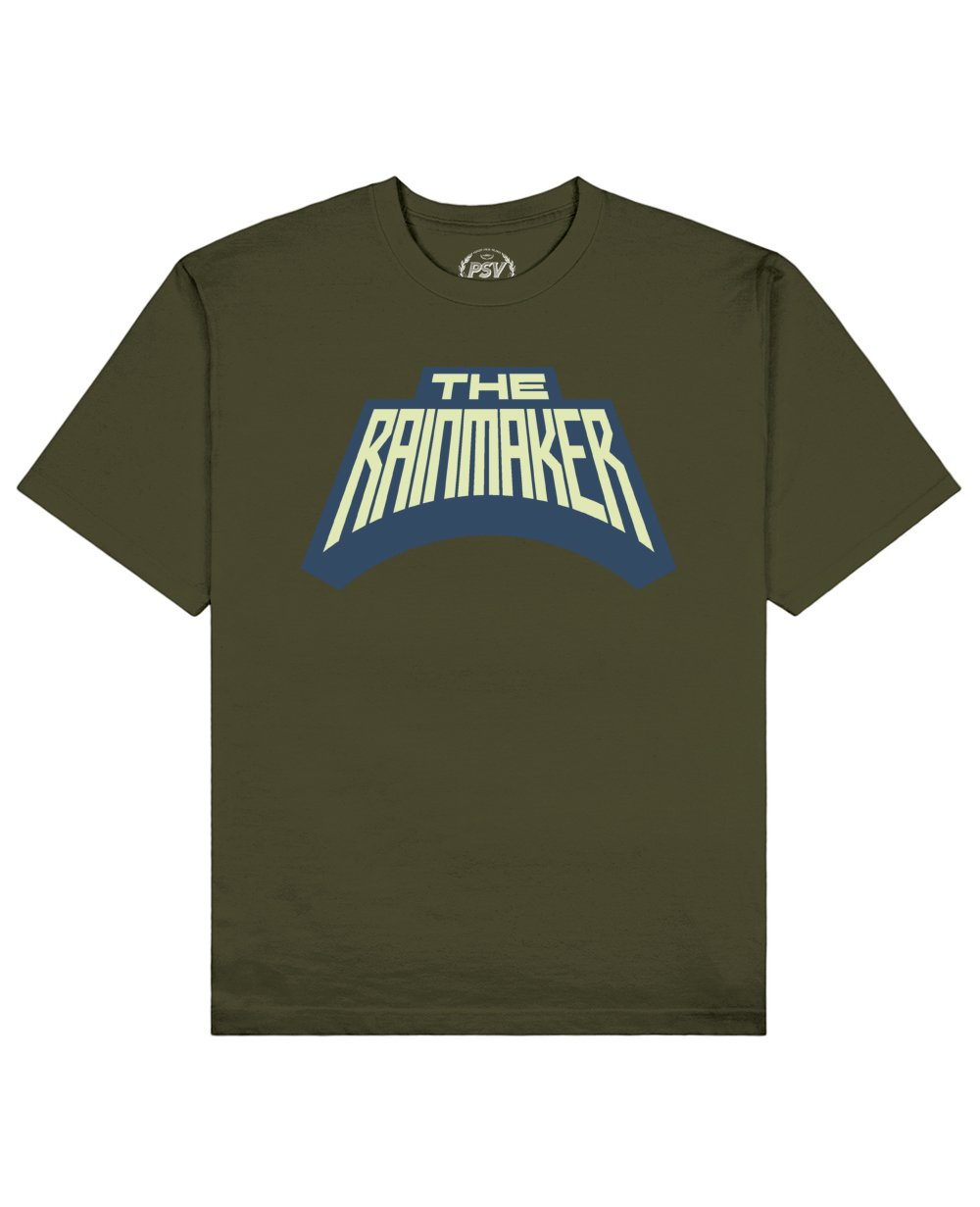 The Rainmaker Print T-Shirt in Khaki - T-Shirts - PSV - BRANMA