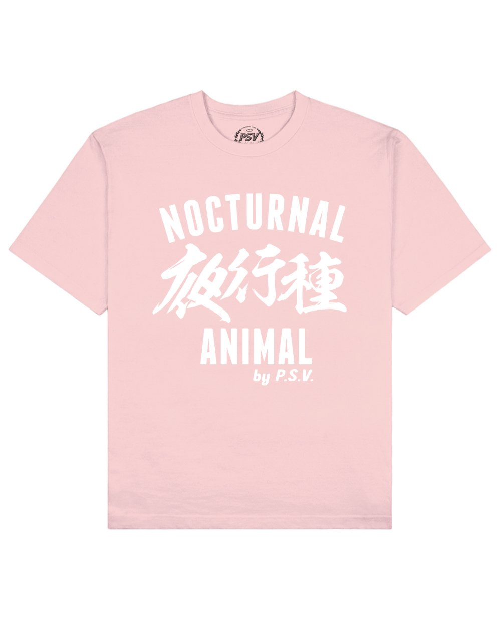 Nocturnal Animal Print T-Shirt in Pink - T-Shirts - PSV - BRANMA