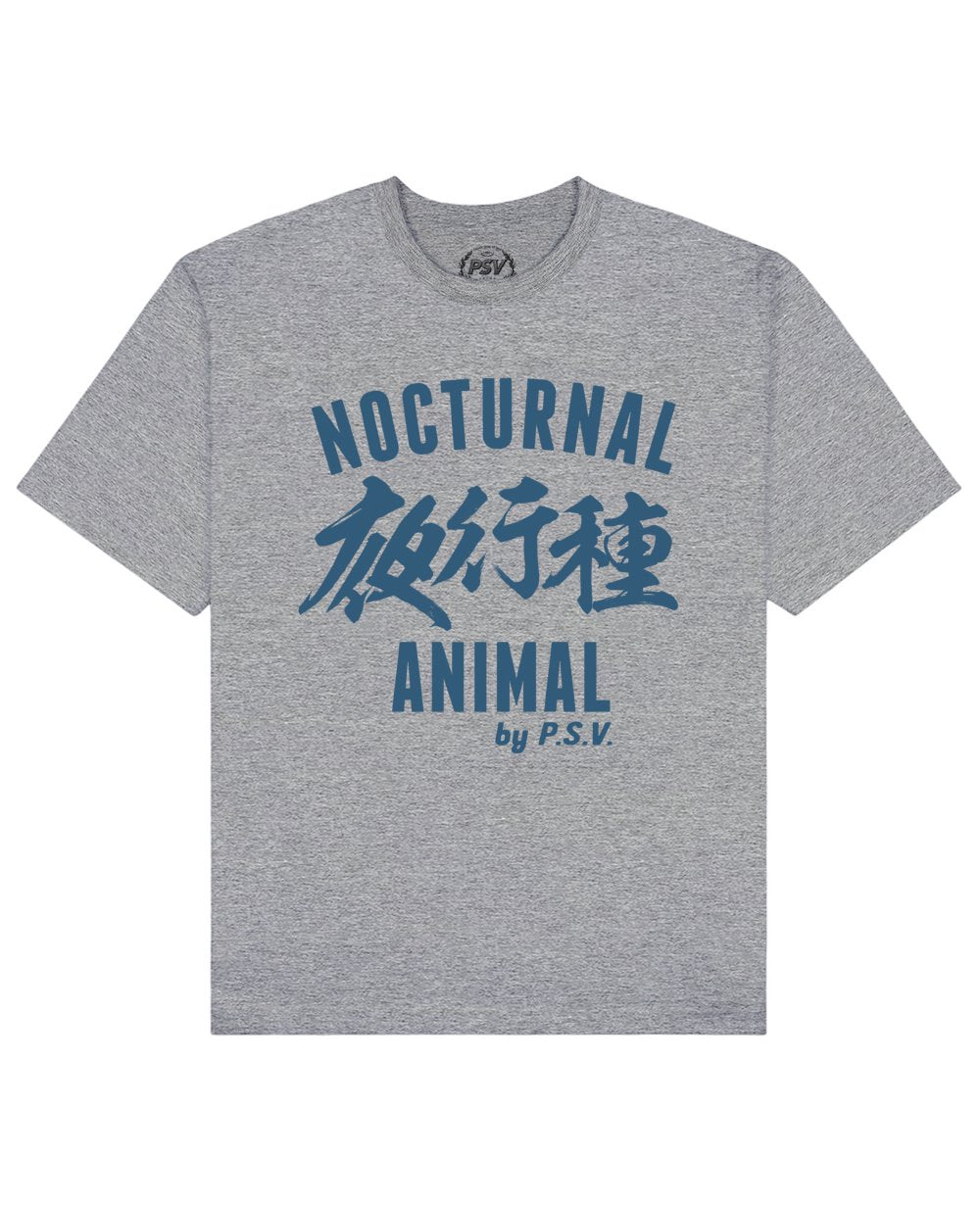 Nocturnal Animal Print T-Shirt in Gray - T-Shirts - PSV - BRANMA