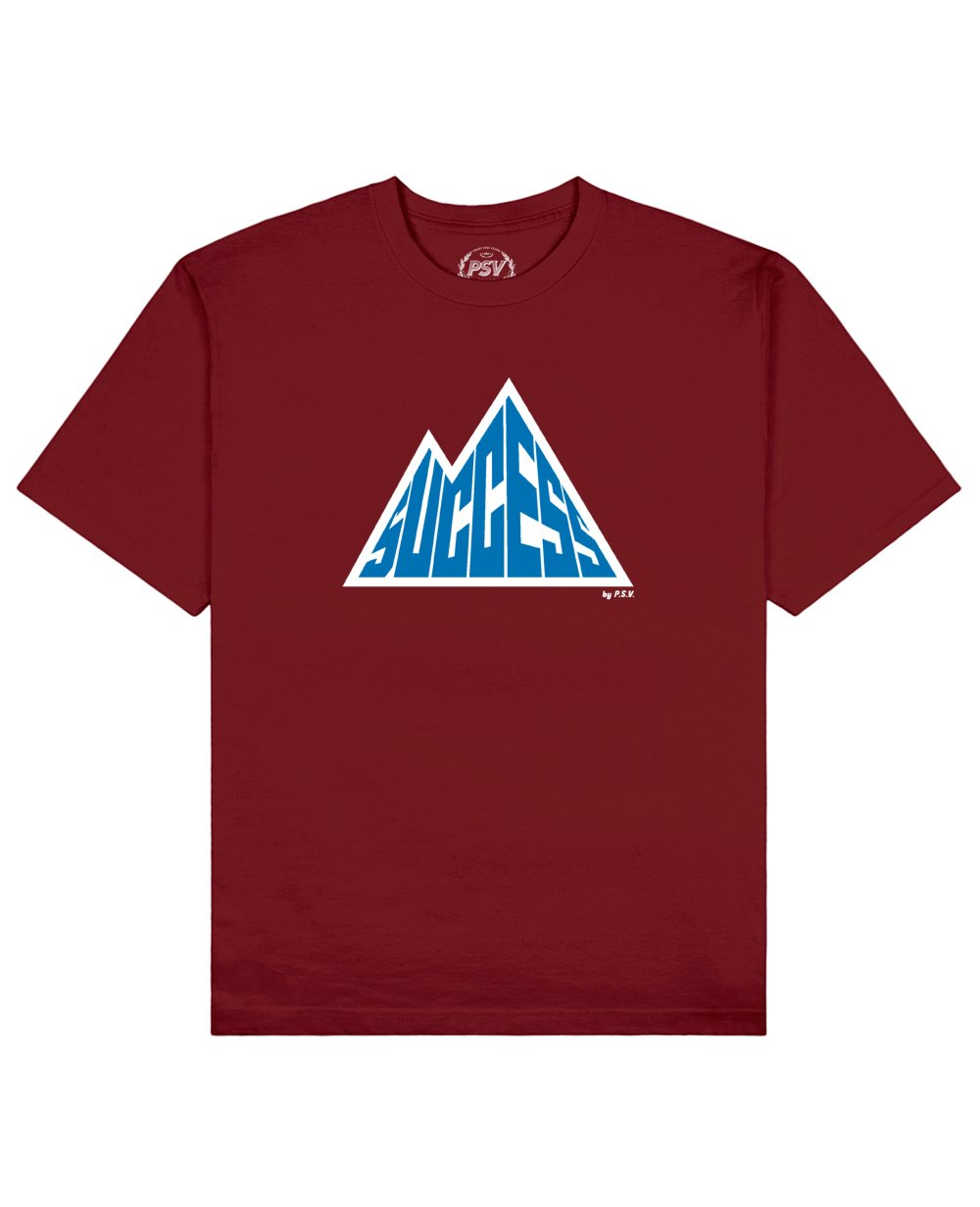Success is a Mountain Print T-Shirt in Red - T-Shirts - PSV - BRANMA