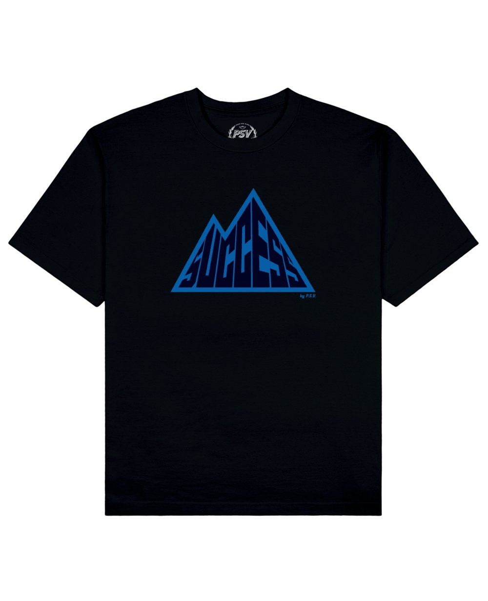 Success is a Mountain Print T-Shirt in Black - T-Shirts - PSV - BRANMA