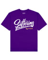 Suffering Builds Character Print T-Shirt in Purple - T-Shirts - PSV - BRANMA