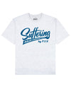 Suffering Builds Character Print T-Shirt in Light Gray - T-Shirts - PSV - BRANMA
