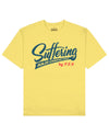 Suffering Builds Character Print T-Shirt in Light Yellow - T-Shirts - PSV - BRANMA