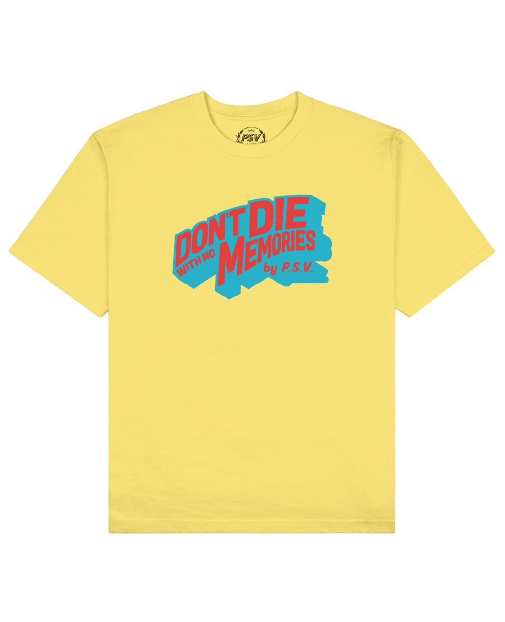 Phrase Quote Print T-Shirt in Light Yellow - T-Shirts - PSV - BRANMA