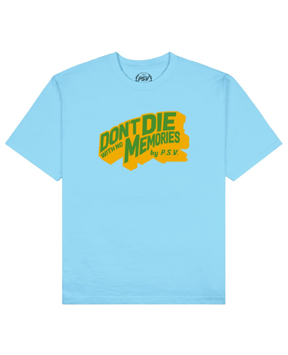 Phrase Quote Print T-Shirt in Light Blue - T-Shirts - PSV - BRANMA