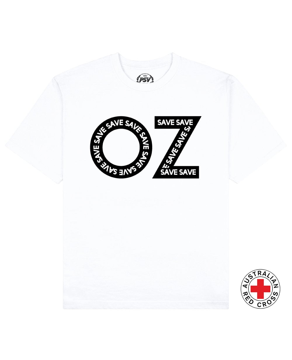 Save Oz Print T-Shirt in White - T-Shirts - PSV - BRANMA