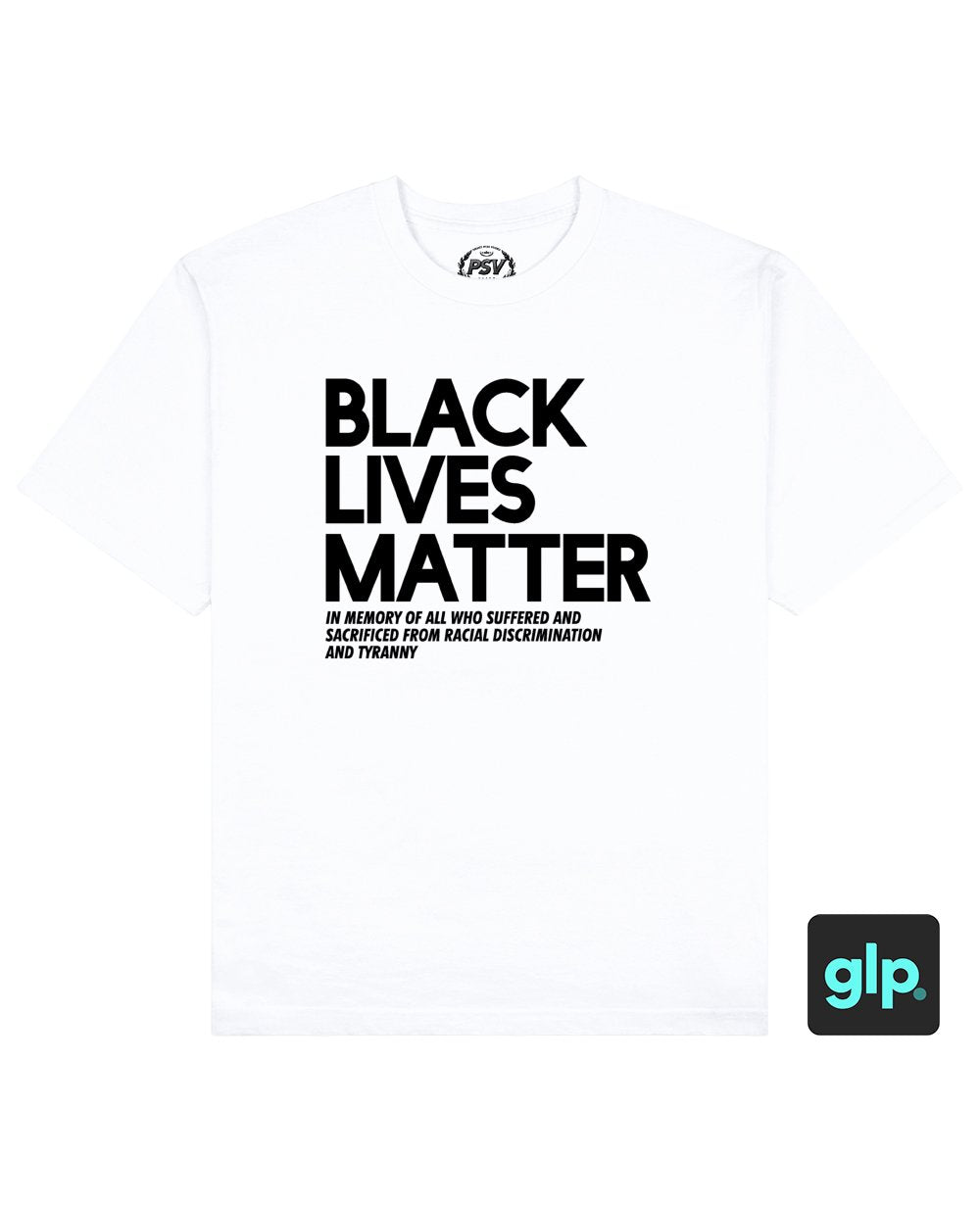 Black Lives Matter Print T-Shirt in White - T-Shirts - PSV - BRANMA