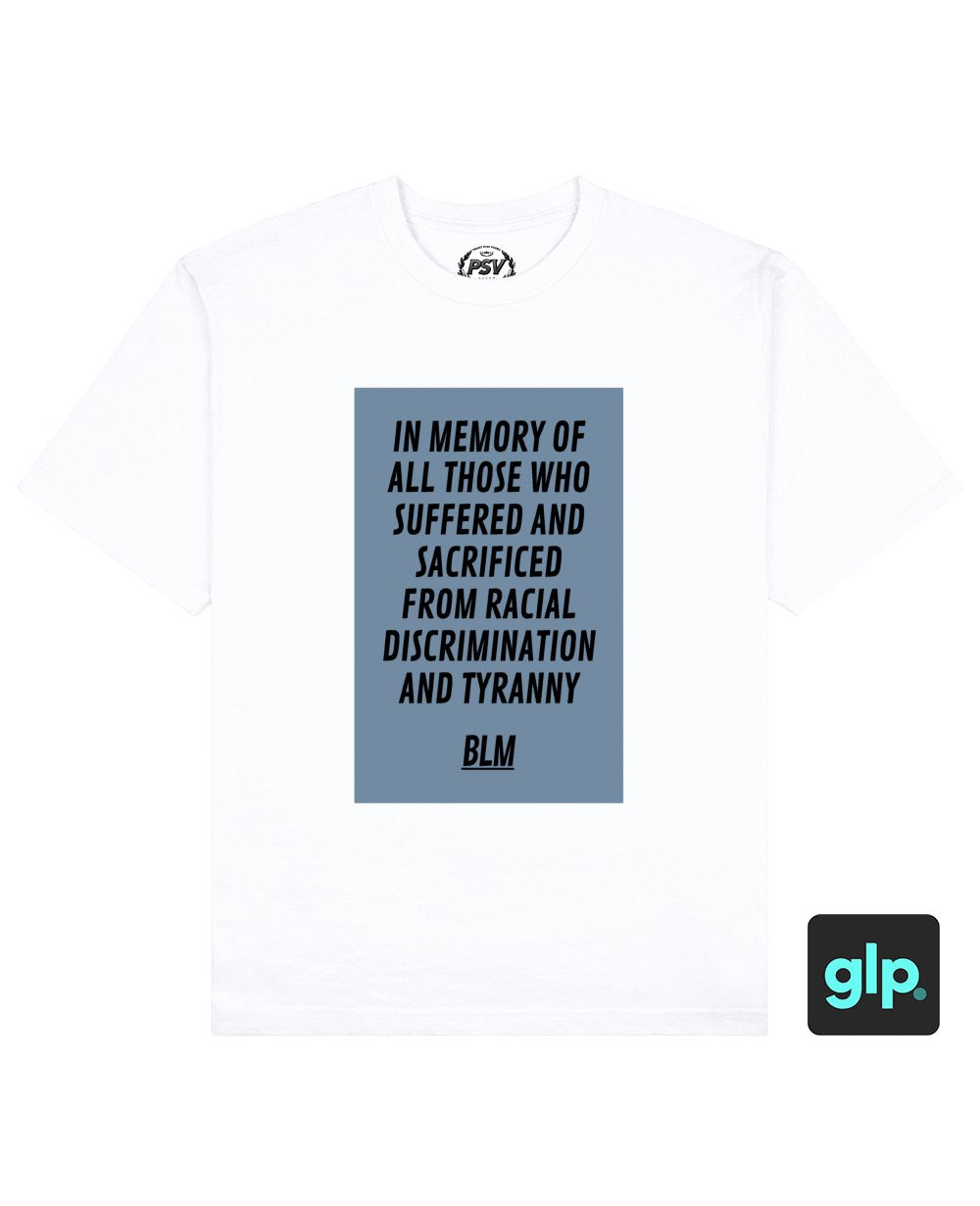 BLM Print T-Shirt in White - T-Shirts - PSV - BRANMA