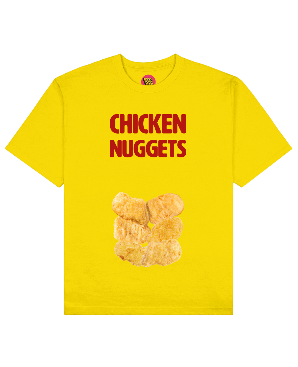 Chicken Nuggets Print T-Shirt in Yellow - T-Shirts - FOOD PORN CLUB - BRANMA
