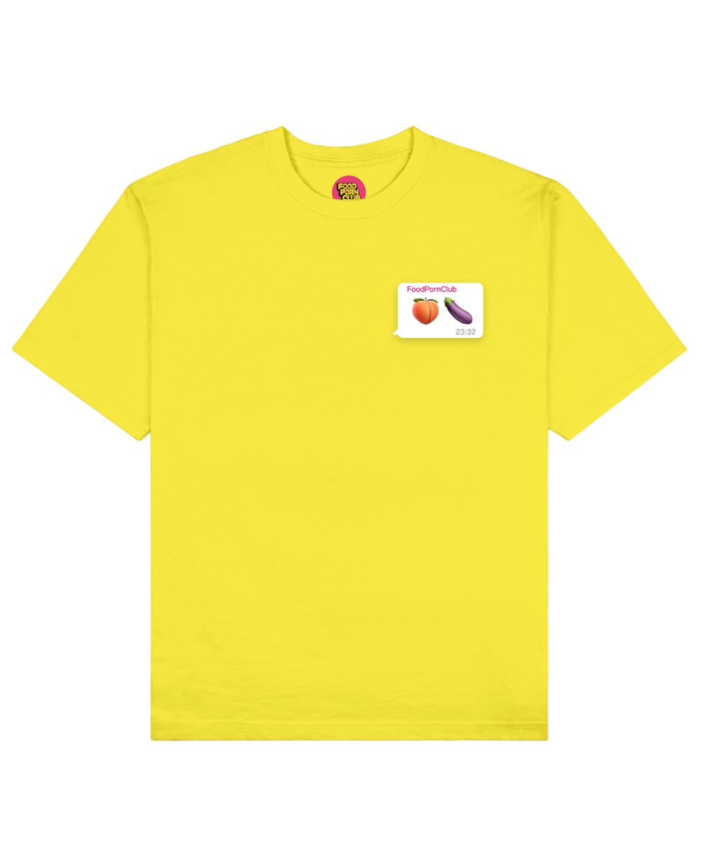 Dirty Emoji Print T-Shirt in Yellow - T-Shirts - FOOD PORN CLUB - BRANMA