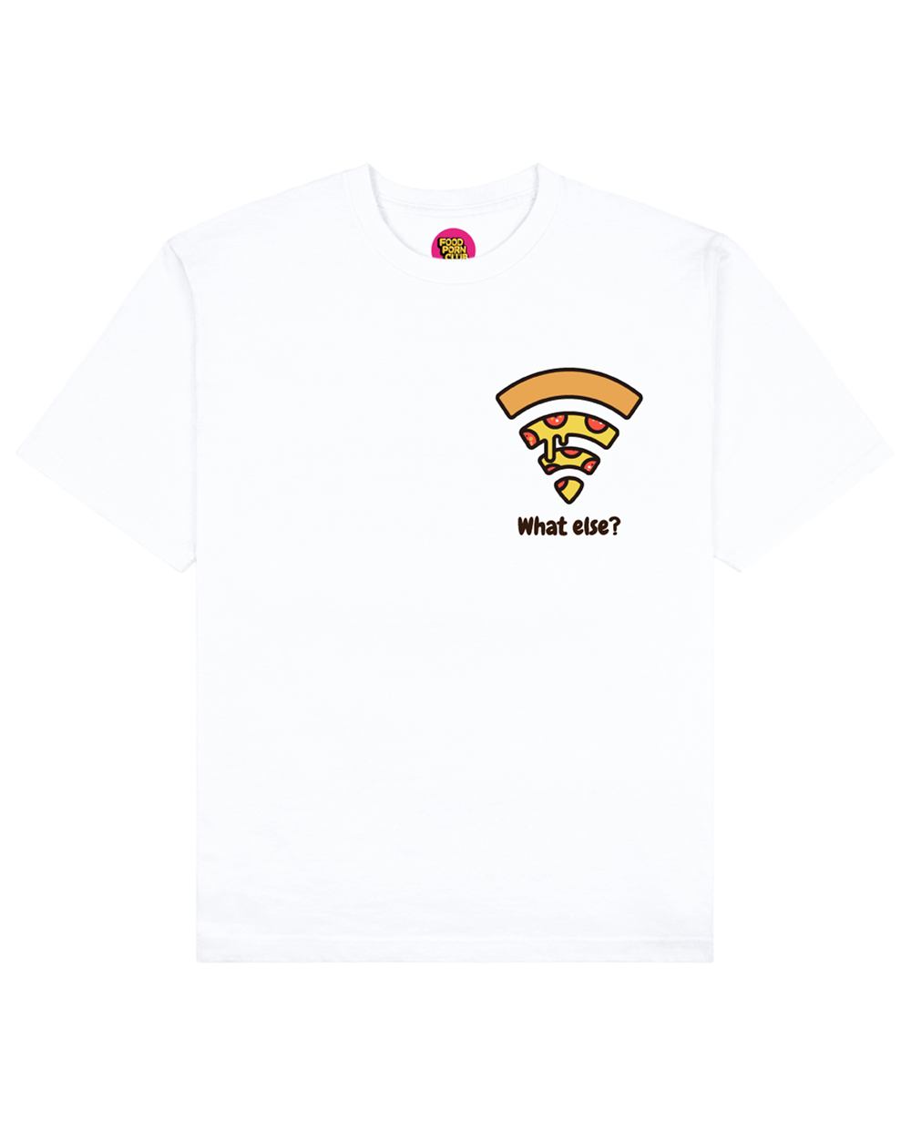 What Else Print T-Shirt in White - T-Shirts - FOOD PORN CLUB - BRANMA