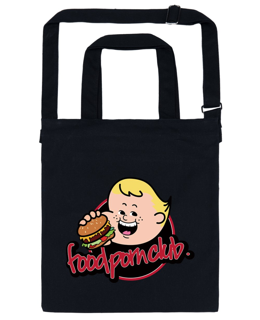 FPC Boo Print Tote Bag in Black - Tote bags - FOOD PORN CLUB - BRANMA