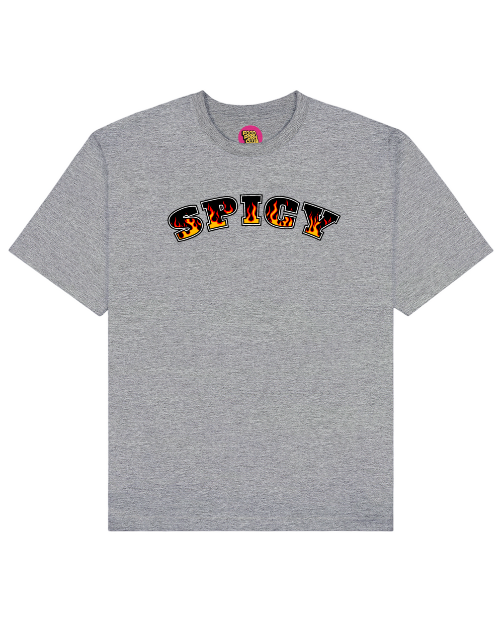 Spicy Print T-Shirt in Gray - T-Shirts - FOOD PORN CLUB - BRANMA