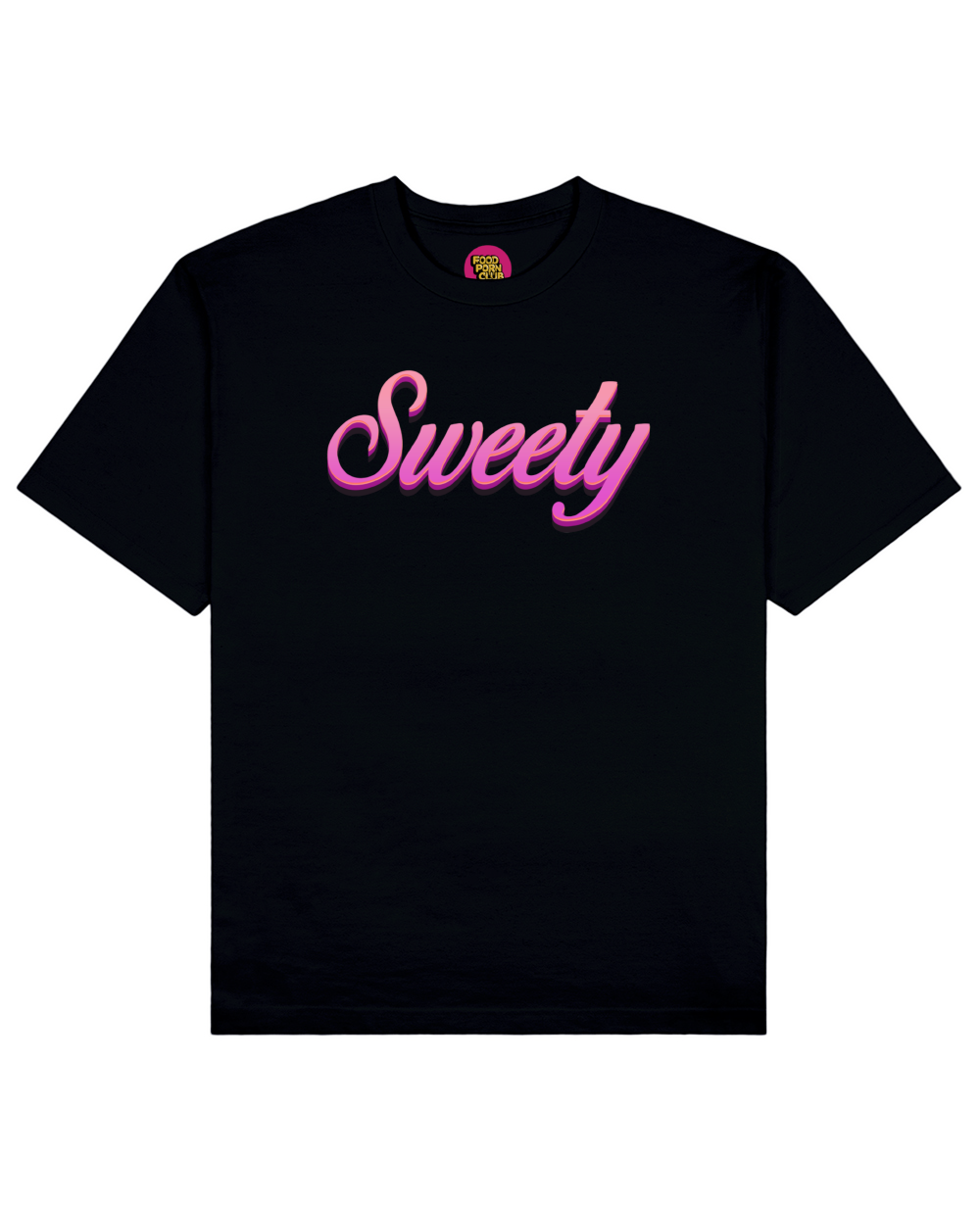Sweety Print T-Shirt in Black - T-Shirts - FOOD PORN CLUB - BRANMA