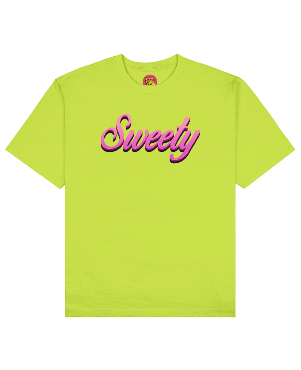 Sweety Print T-Shirt in Light Green - T-Shirts - FOOD PORN CLUB - BRANMA