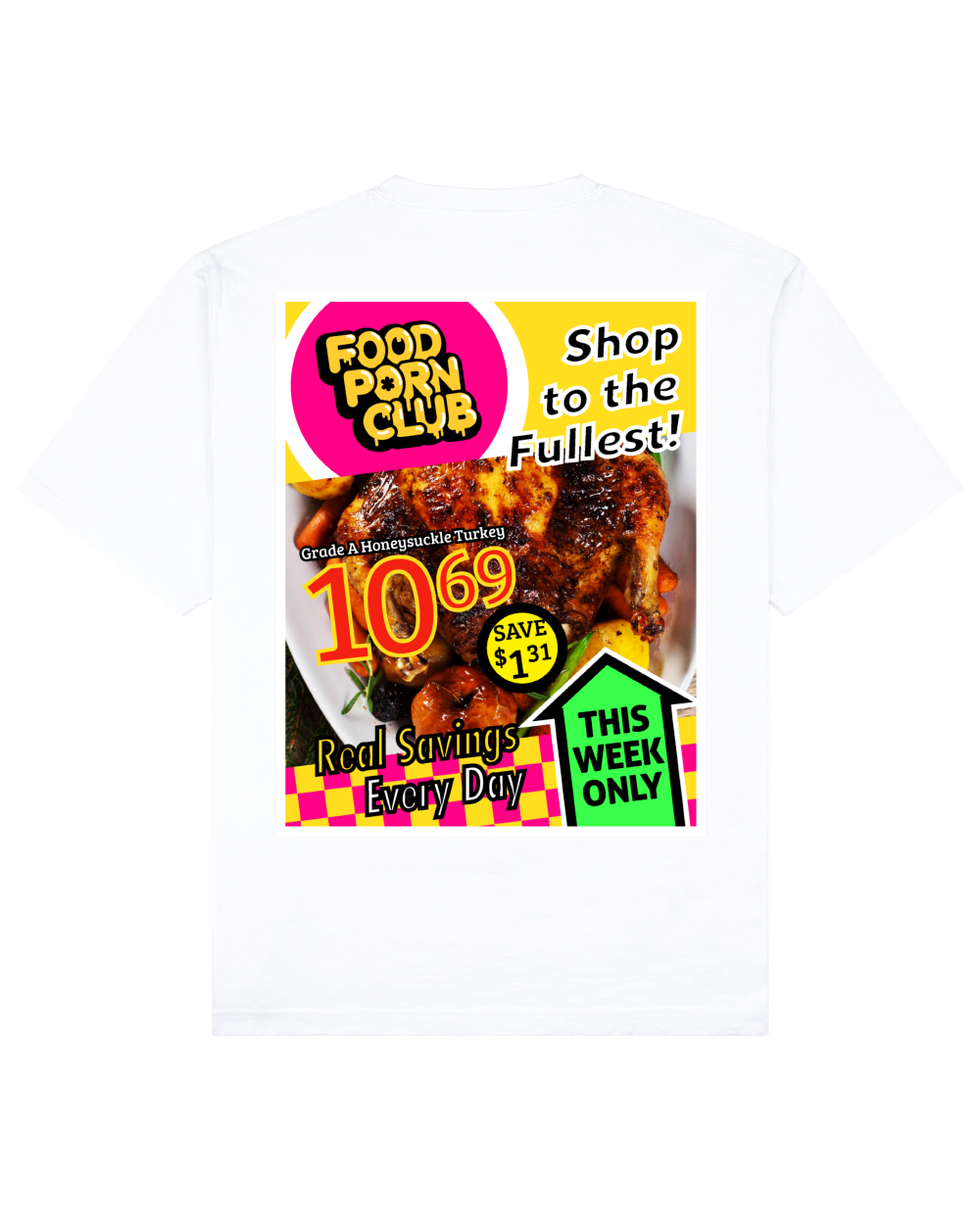 Catalog Print T-Shirt in White - T-Shirts - FOOD PORN CLUB - BRANMA