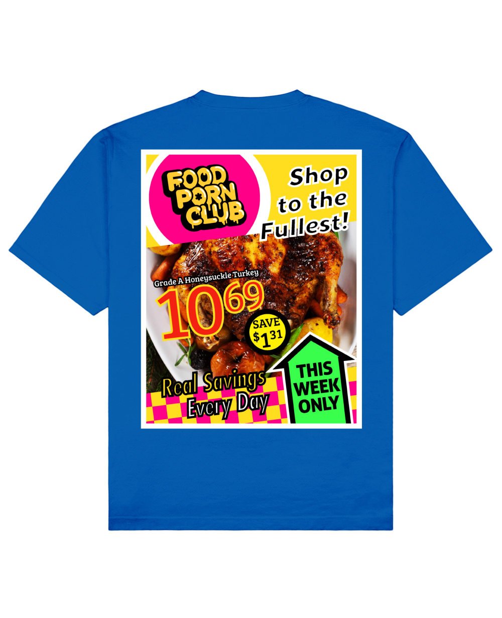 Catalog Print T-Shirt in Blue - T-Shirts - FOOD PORN CLUB - BRANMA