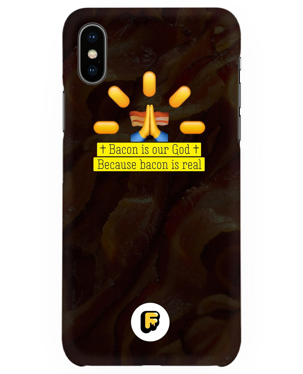 Bacon Is Our God Print Iphone case - Phone cases - FOOD PORN CLUB - BRANMA