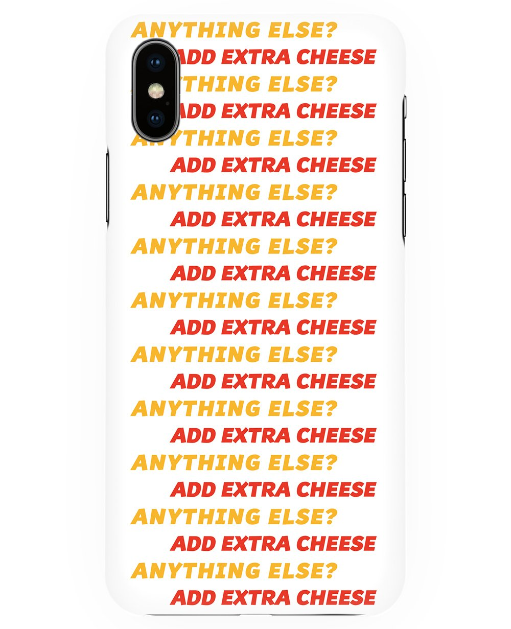 Add Extra Cheese Print Iphone case - Phone cases - FOOD PORN CLUB - BRANMA
