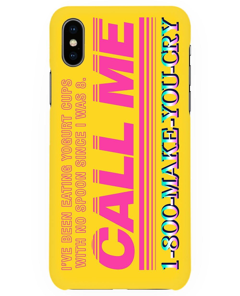 Call Me Print Iphone case - Phone cases - FOOD PORN CLUB - BRANMA