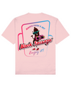Black Sausage Print T-Shirt in Pink - T-Shirts - FOOD PORN CLUB - BRANMA