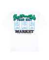 Meat Market Print T-Shirt in White - T-Shirts - FOOD PORN CLUB - BRANMA