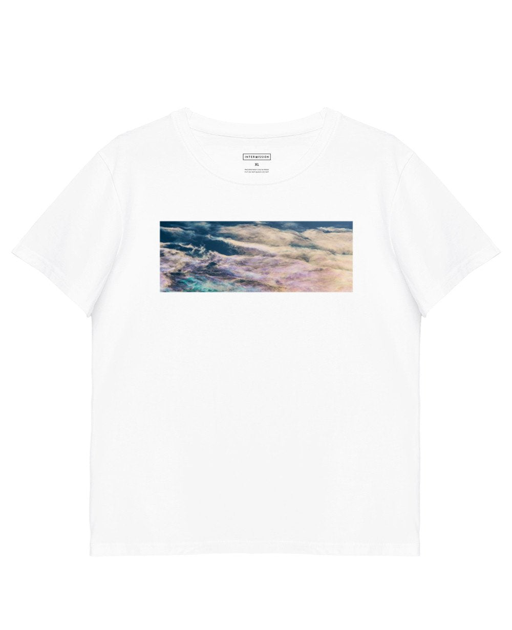Abstract Print T-Shirt in White - T-Shirts - INTERMISSION - BRANMA