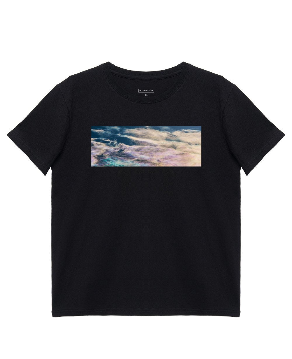 Abstract Print T-Shirt in Black - T-Shirts - INTERMISSION - BRANMA