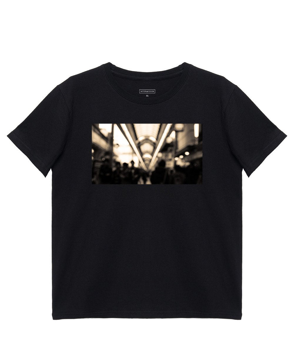 Printed T-Shirt in Black - T-Shirts - INTERMISSION - BRANMA