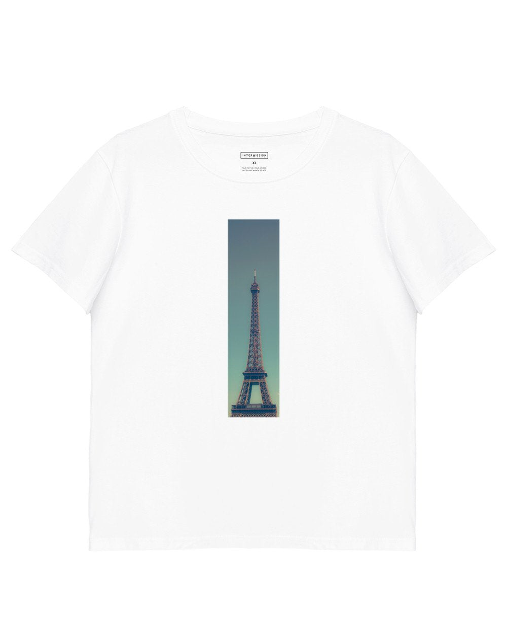 Tower Print T-Shirt in White - T-Shirts - INTERMISSION - BRANMA