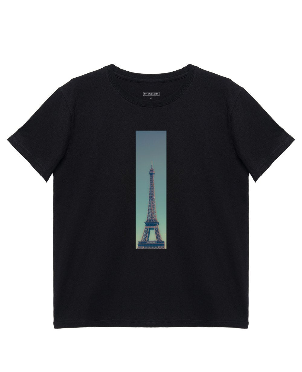 Tower Print T-Shirt in Black - T-Shirts - INTERMISSION - BRANMA