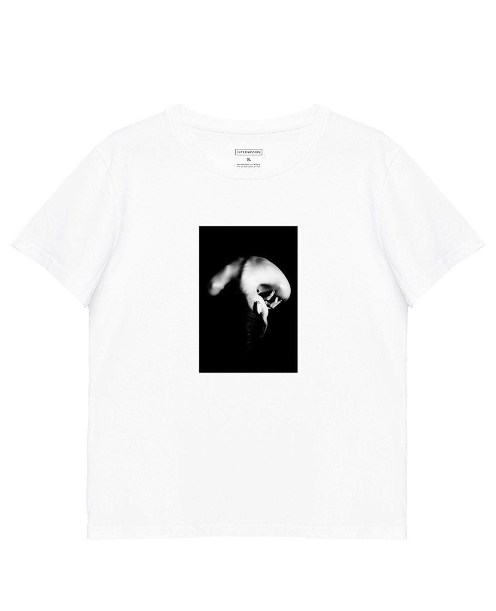 Printed T-Shirt in White - T-Shirts - INTERMISSION - BRANMA