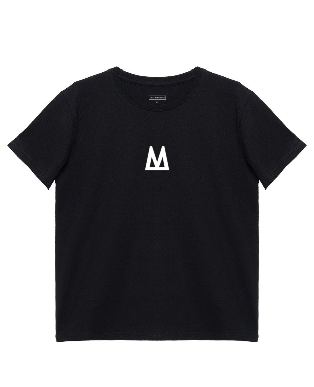 Logo T-Shirt in Black - T-Shirts - INTERMISSION - BRANMA