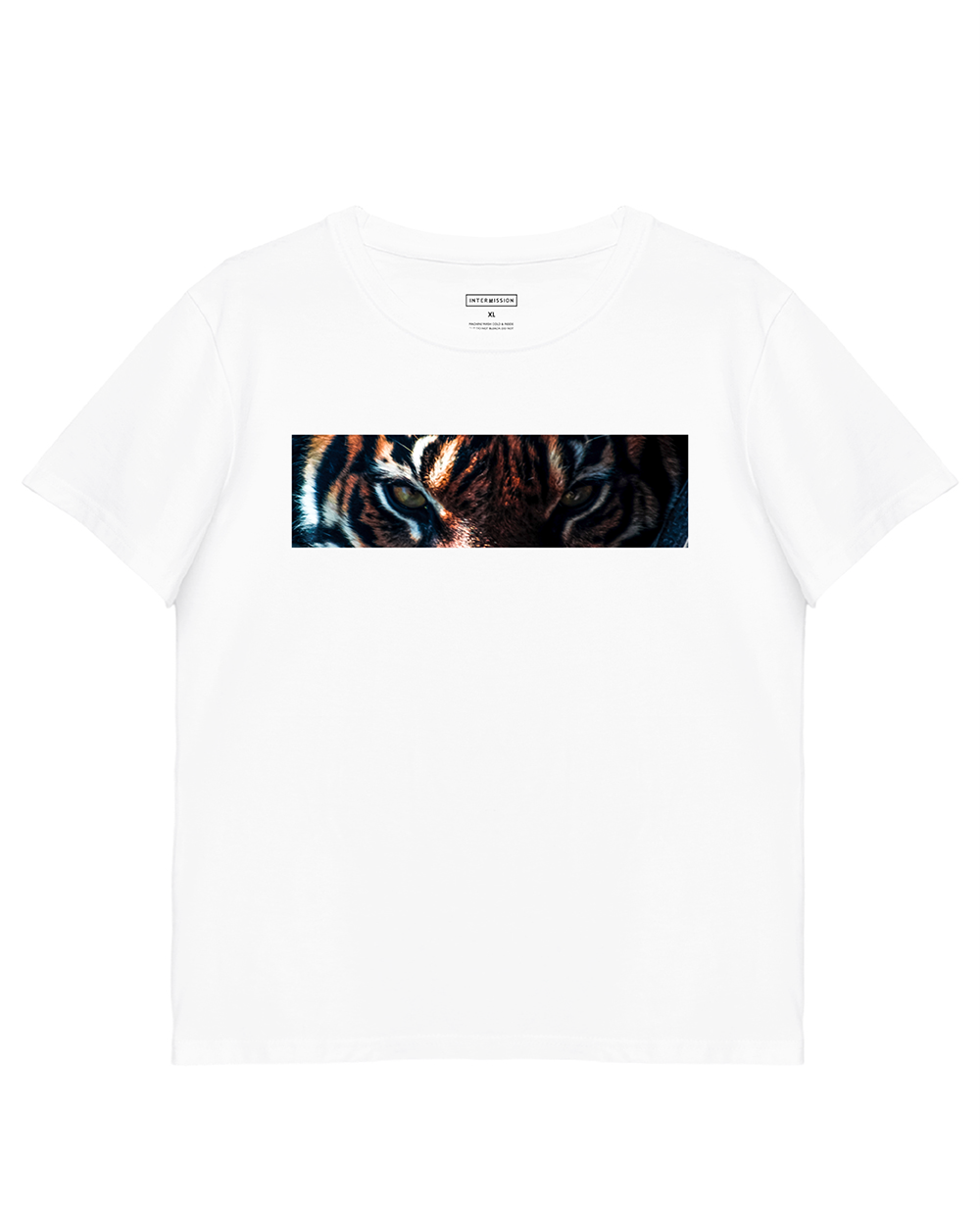 Tiger Print T-Shirt in White - T-Shirts - INTERMISSION - BRANMA