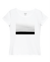 Walk Alone Print Slim Fit T-Shirt in White
