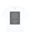 Hidden Skull Print T-Shirt in White - T-Shirts - Franz Mesmer - BRANMA