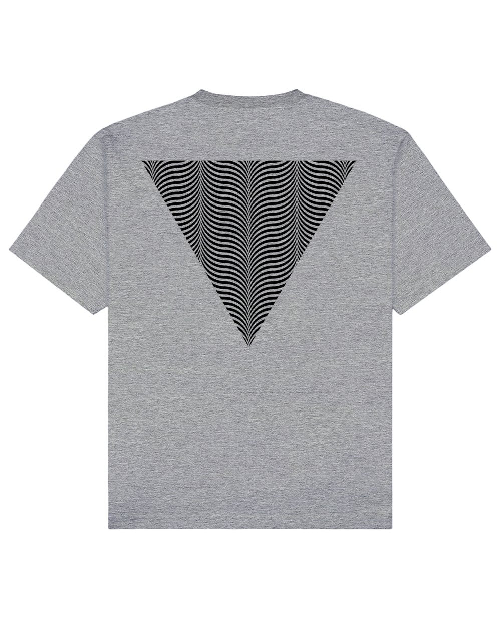 Illusion Back Print T-Shirt in Gray - T-Shirts - Franz Mesmer - BRANMA