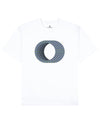 Rotating Rings Print T-Shirt in White - T-Shirts - Franz Mesmer - BRANMA