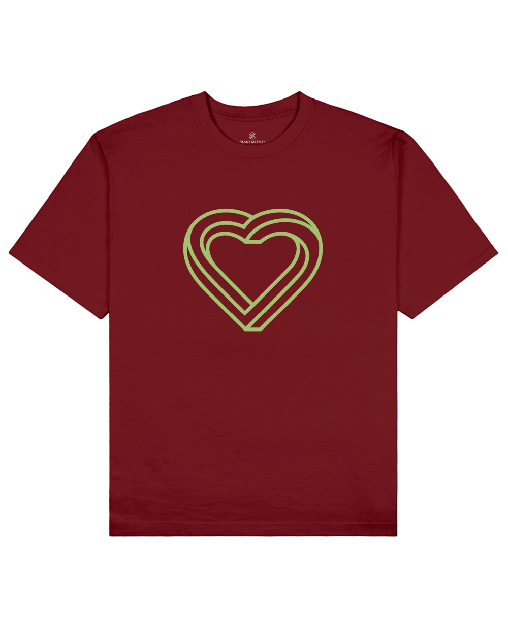 Impossible Heart Print T-Shirt in Red - T-Shirts - Franz Mesmer - BRANMA