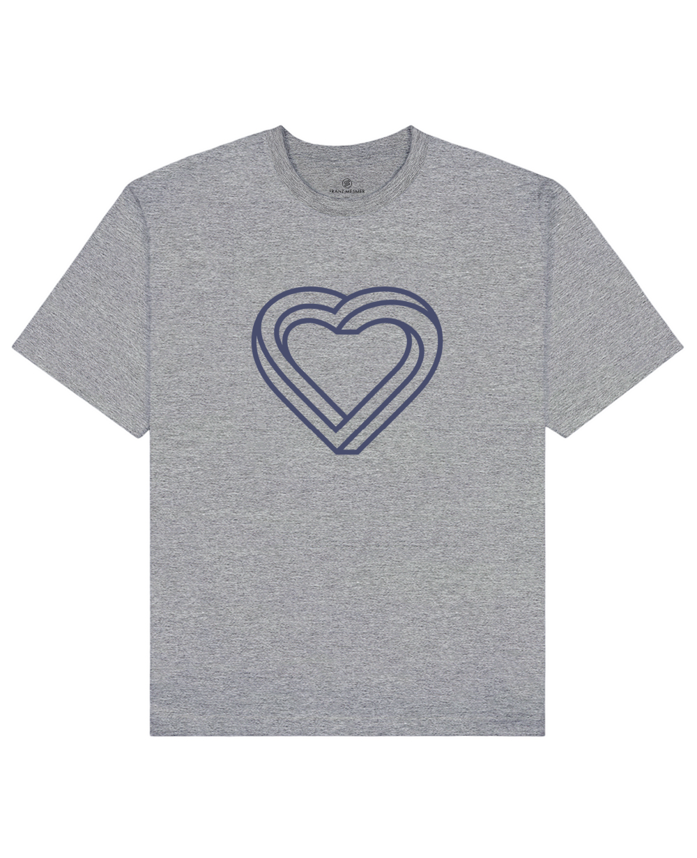 Impossible Heart Print T-Shirt in Gray - T-Shirts - Franz Mesmer - BRANMA