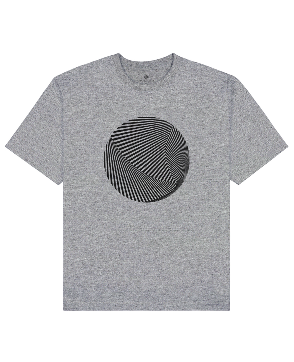 Optical Illusion Print T-Shirt in Gray - T-Shirts - Franz Mesmer - BRANMA