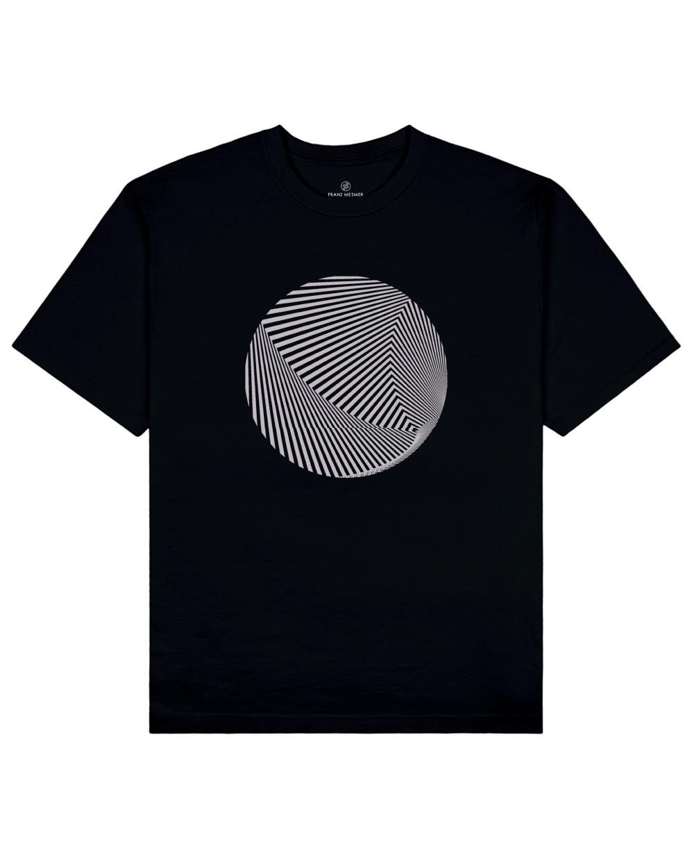 Optical Illusion Print T-Shirt in Black - T-Shirts - Franz Mesmer - BRANMA