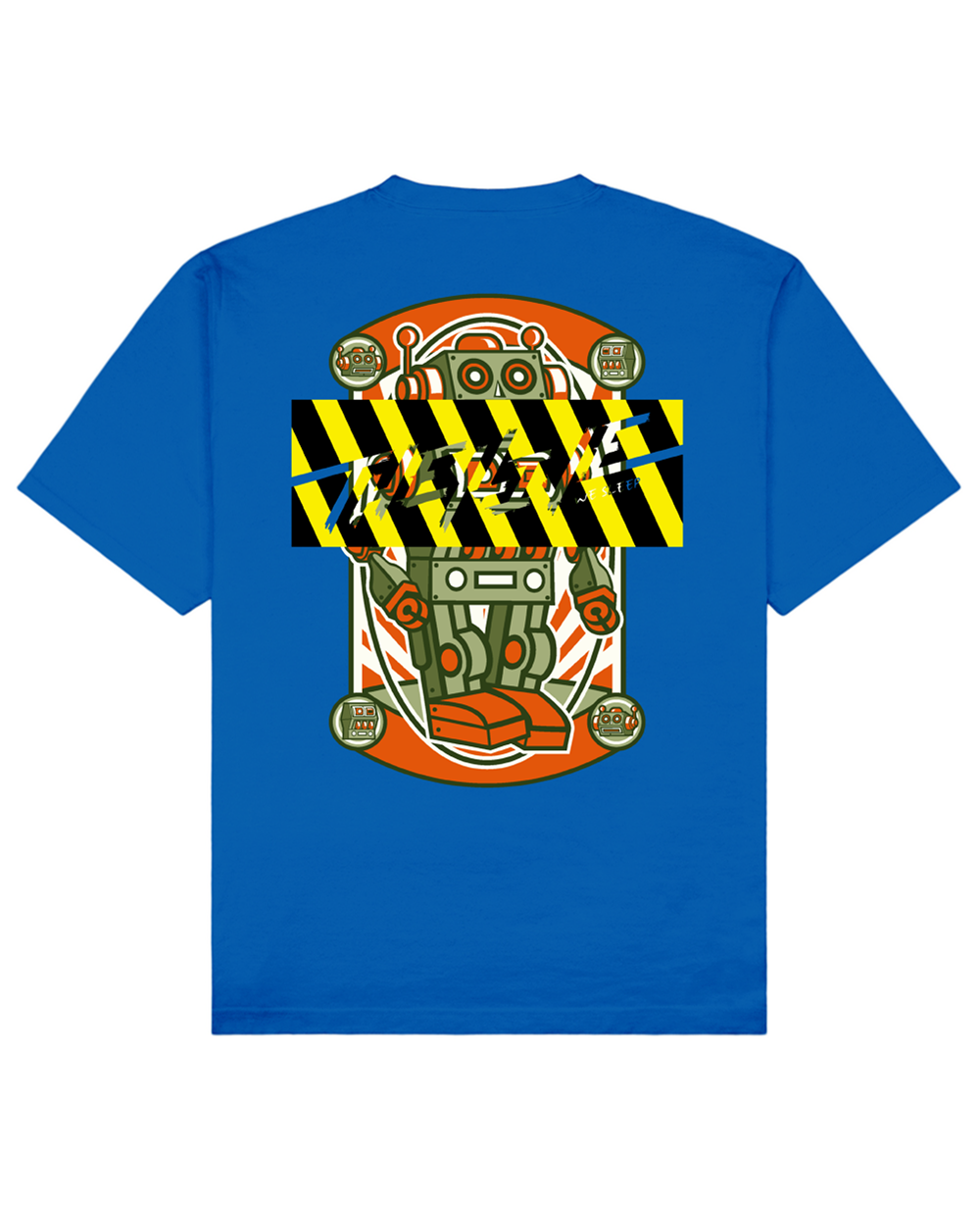 Tin Toy Robot Print T-Shirt in Blue - T-Shirts - THEYLIVE - BRANMA